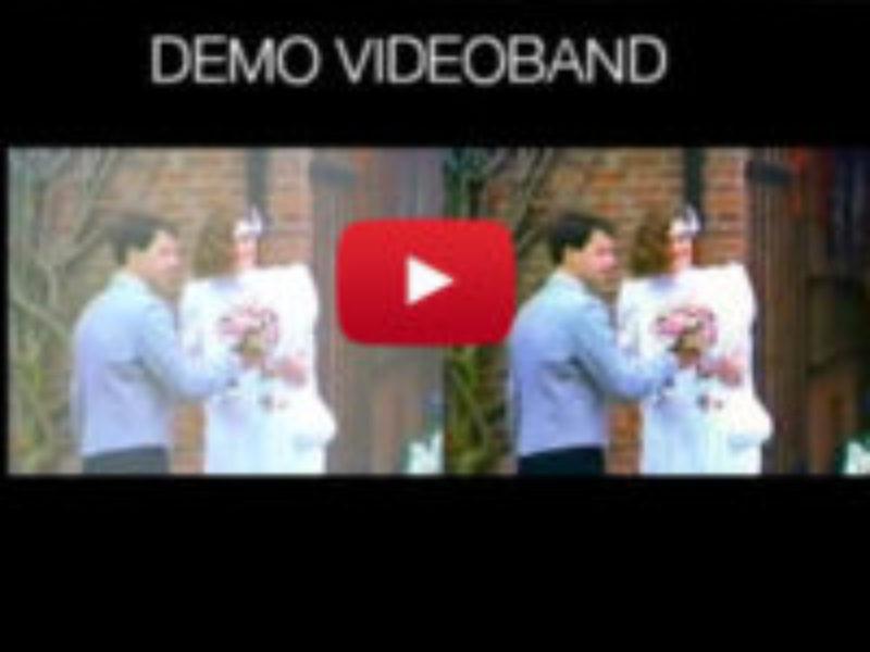 Demo videoband voor en na bewerking